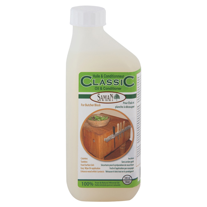 saman oil and conditonner for butcher block 500 ml
