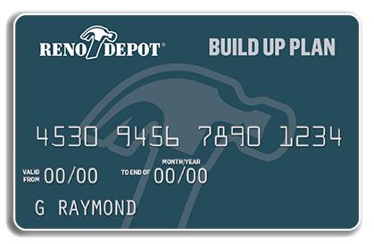 Carte No Limit But.The Build Up Plan Reno Depot Credit Card Reno Depot