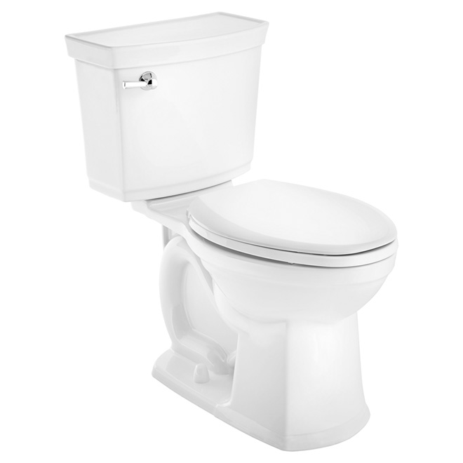 Elongated Front 2-Piece Toilet, Vormax, 4,8 L, White