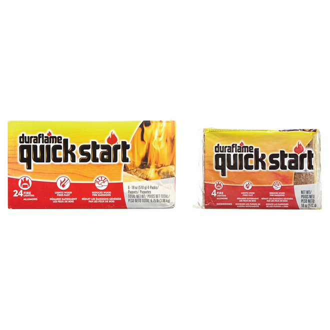 Allume-feu « Quick Start », paquet de 24