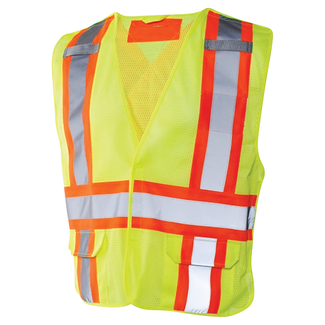 High Visibility Traffic Vest - Polyester - L/XL - Yellow