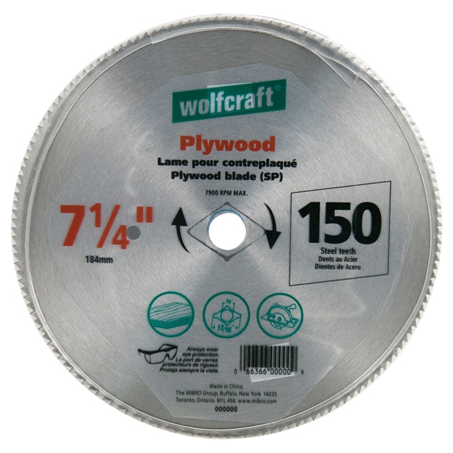 "7 1/4"" Steel Saw Blade for Panel"
