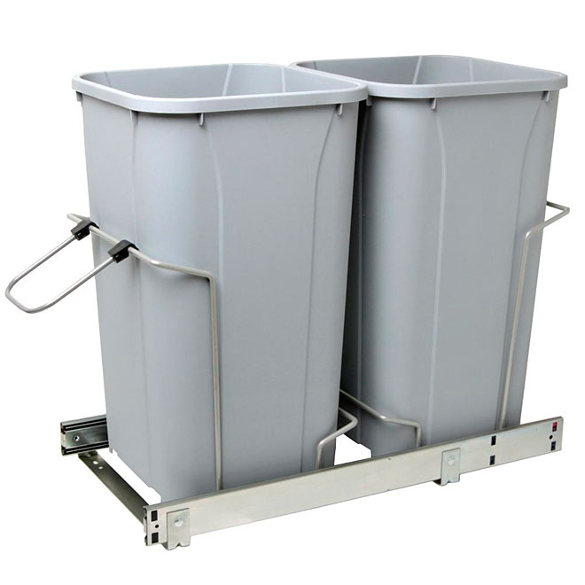 Double Wastebins For Cabinet
