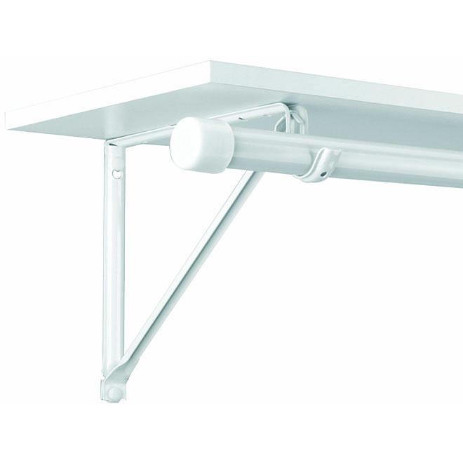 "Shelf and Rod Bracket - 11"" - White"
