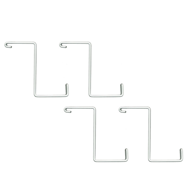 Add-On Storage Hooks - White - Pack of 4
