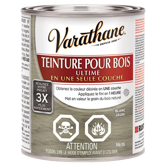 Varathane  Teinture Pour Bois  Ultime  Une Couche Blanc Jauni