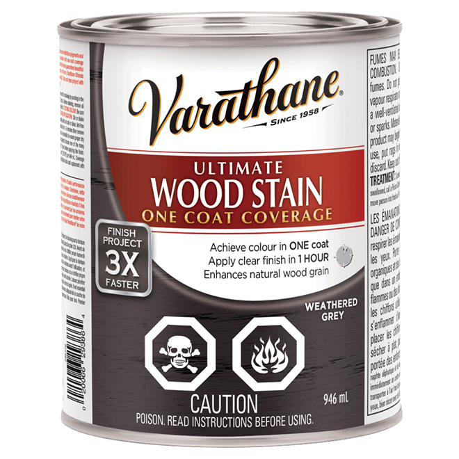 """Ultimate"" One-Coat Wood Stain - Weathered Grey"