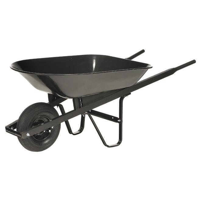 brouette avec cuve en acier 6 pi noir r no d p t. Black Bedroom Furniture Sets. Home Design Ideas