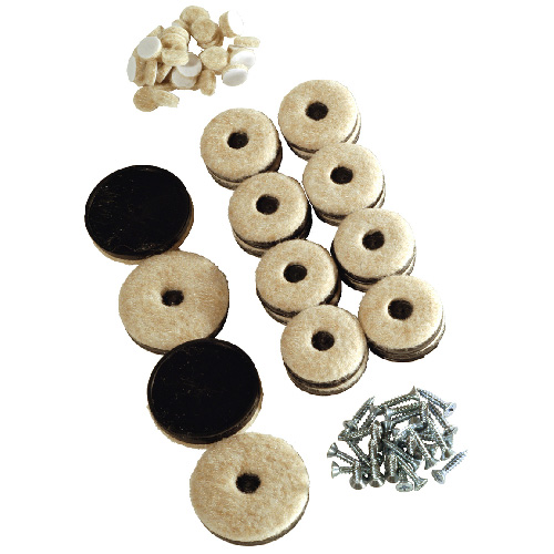 "Felt-Base Thermoplastic Rubber Pads - Round - 1 1/2"" - 4/Pk"