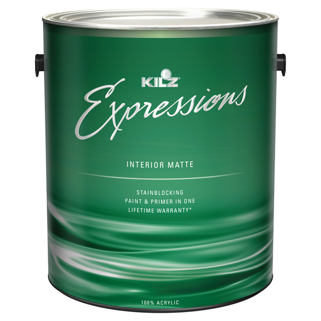 Interior Latex Paint and Primer - Matte Finish