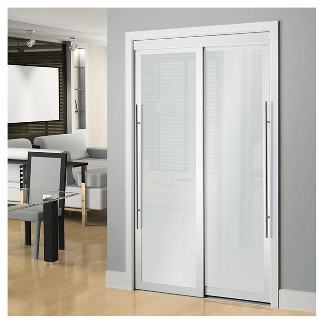 Colonial elegance porte coulissante lounge 48 x 80 5 blanc r no d p t - Prix porte coulissante automatique magasin ...