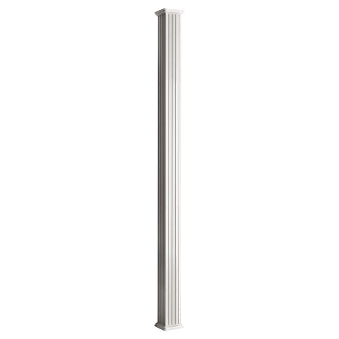 Colonial elegance colonne carr e en aluminium 5 1 4 x - Colonne aluminium prix ...