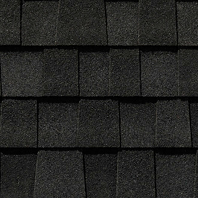 """Mystique 42"" Roofing Shingle - Shadow Black"