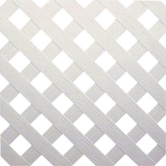 """Privacy"" PVC Lattice - White"