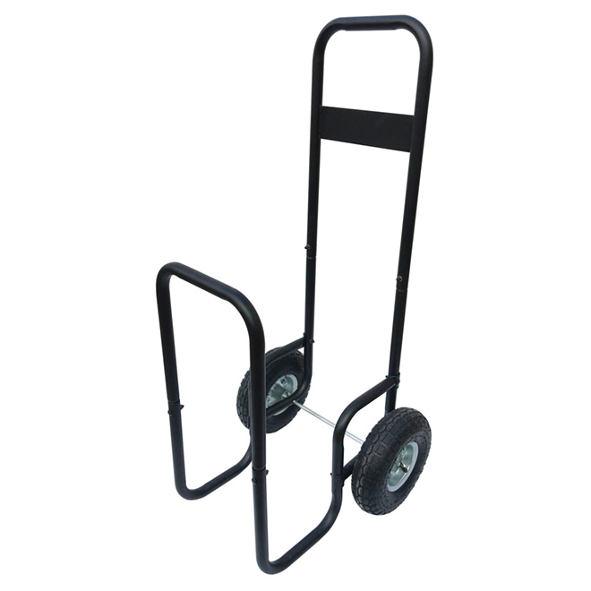 Log Cart - Steel - 2 Wheels - Black