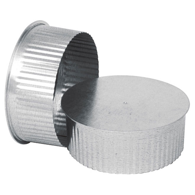 "5"" Round End Cap (small cap) to Close Duct"