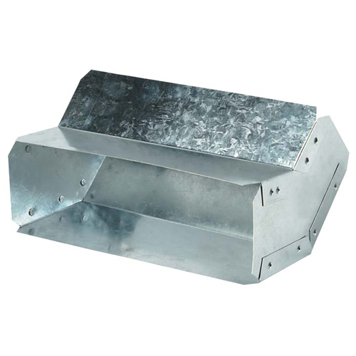 45° Rectangular Galvanized Flat Elbow