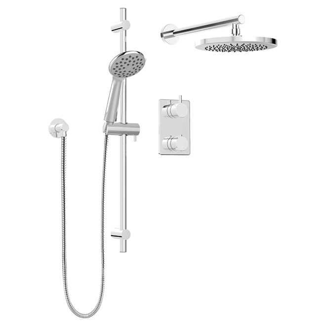 Hand Shower Rail Kit with Thermo Diverter-Universal