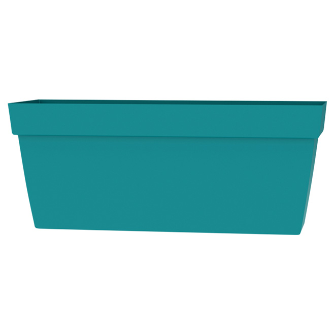 "Rectangular Viva Planter - 24"" - Plastic - Flat Blue"