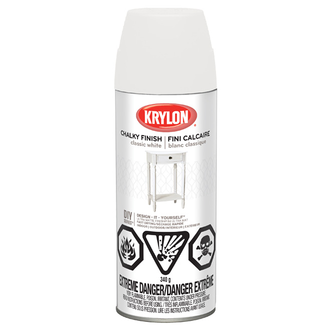 Aerosol Paint - Chalky Finish - Classic White