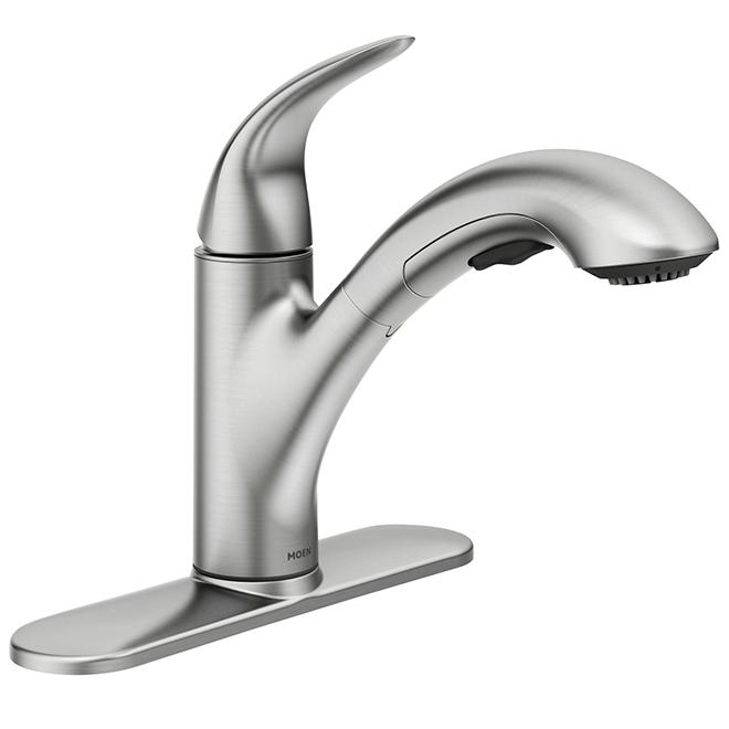 Moen robinet de cuisine medina bec r tractable acier inoxydable r no d p t - Liquidation robinet cuisine ...