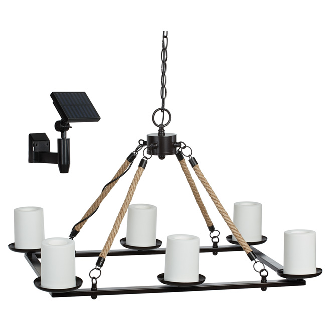 Solar Outdoor Suspension, 6-Light