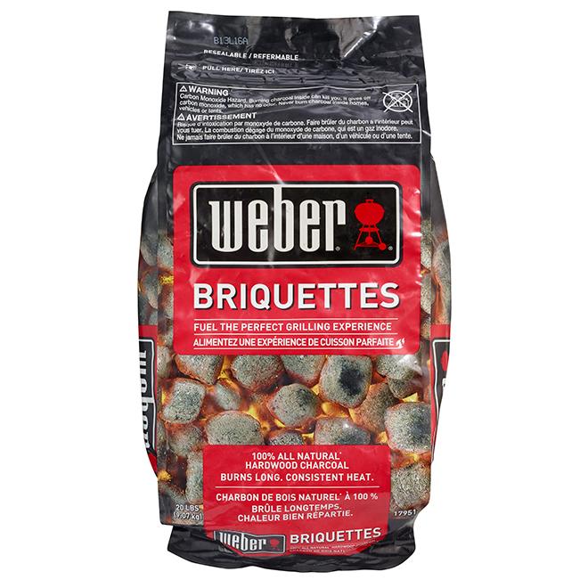 Weber natural hardwood charcoal briquettes lb