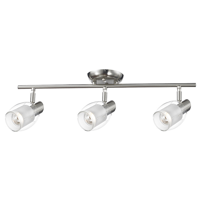 """Salem"" 3-Light Track Fixture - Nickel"
