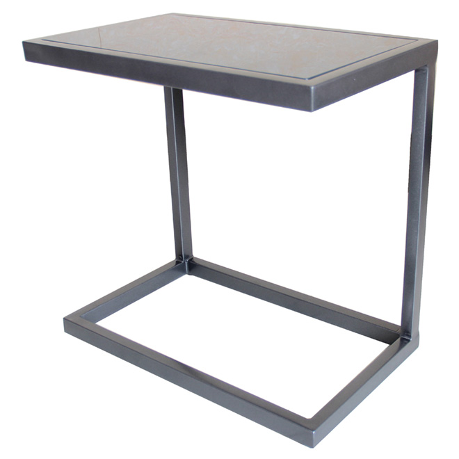 Uberhaus table d 39 appoint pour patio grise 12 po x 19 5 for Table d appoint pour lit