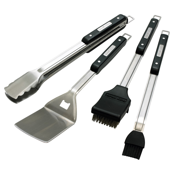 4-Piece Barbecue Tool Set - Stainless Steel
