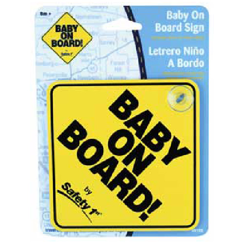 """Baby On Board"" Car Sign - 5"""