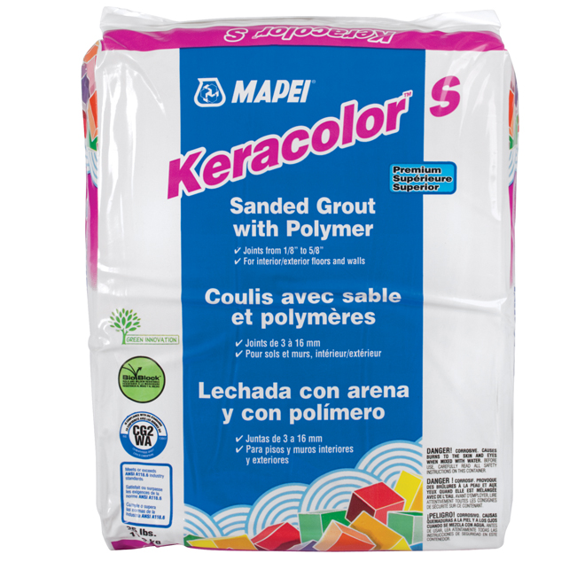 """Keracolor S"" Sanded Grout 11,3kg - Silver"