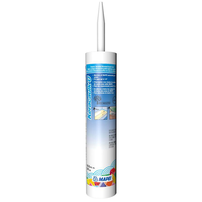Mastic sans sable «Keracaulk U» 311ml - Amande douce