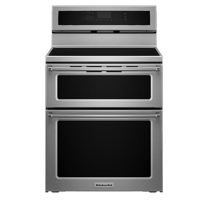 kitchenaid cuisini re lectrique double induction convection 6 7 pi r no d p t. Black Bedroom Furniture Sets. Home Design Ideas