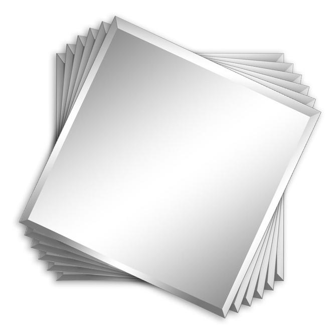 carreaux de miroir sans cadre mural biseaut 12 pqt de 6 r no d p t. Black Bedroom Furniture Sets. Home Design Ideas