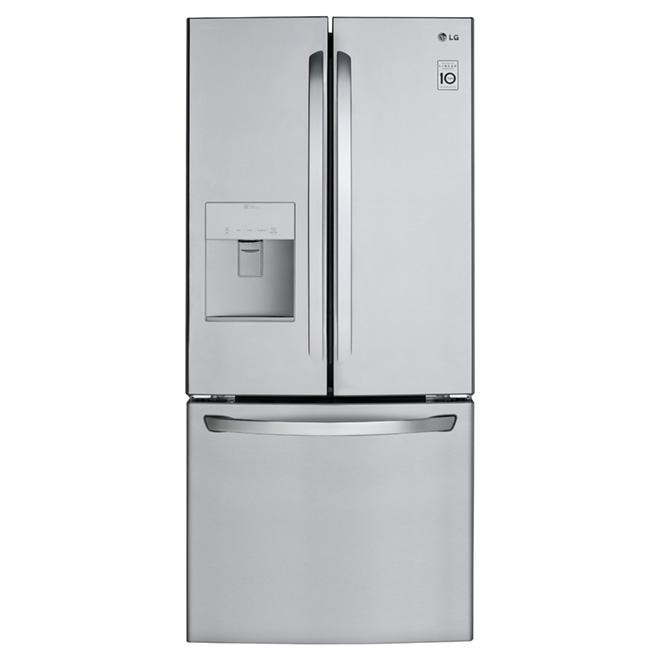 lg r frig rateur avec distributeur d 39 eau 21 8 pi inox r no d p t. Black Bedroom Furniture Sets. Home Design Ideas