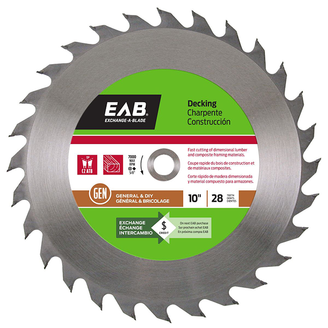 10-IN CIRCULAR SAW BLADE 28TH
