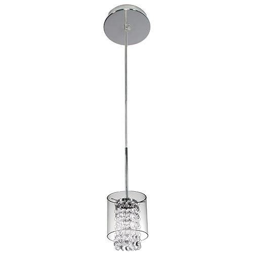 bazz luminaire suspendu 1 lumi re glam chrome cristal r no d p t. Black Bedroom Furniture Sets. Home Design Ideas