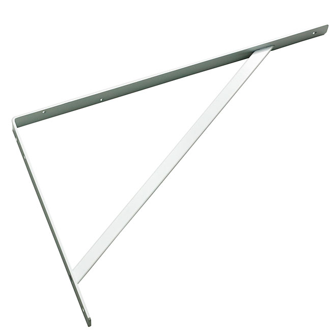 "Metal Shelf Bracket - 21 1/2"" - White"