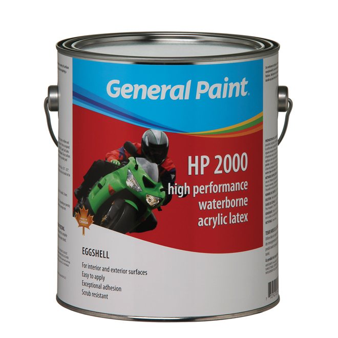 "Interior and Exterior ""HP 2000"" Latex Paint - Eggshell"
