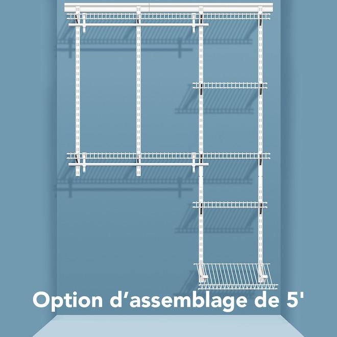 Shelftrack organisateur pour garde robe r no d p t - Tablette pour garde robe ...