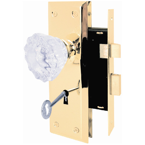 Mortise Lock with Glass Knob