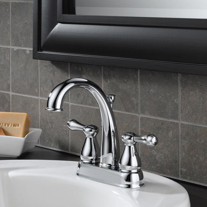 Delta robinet de lavabo leland r no d p t for Robinet delta salle de bain