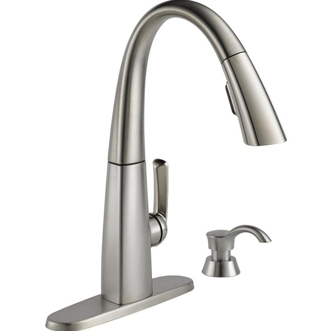 Delta robinet de cuisine 1 poign e bec r tractable - Liquidation robinet cuisine ...