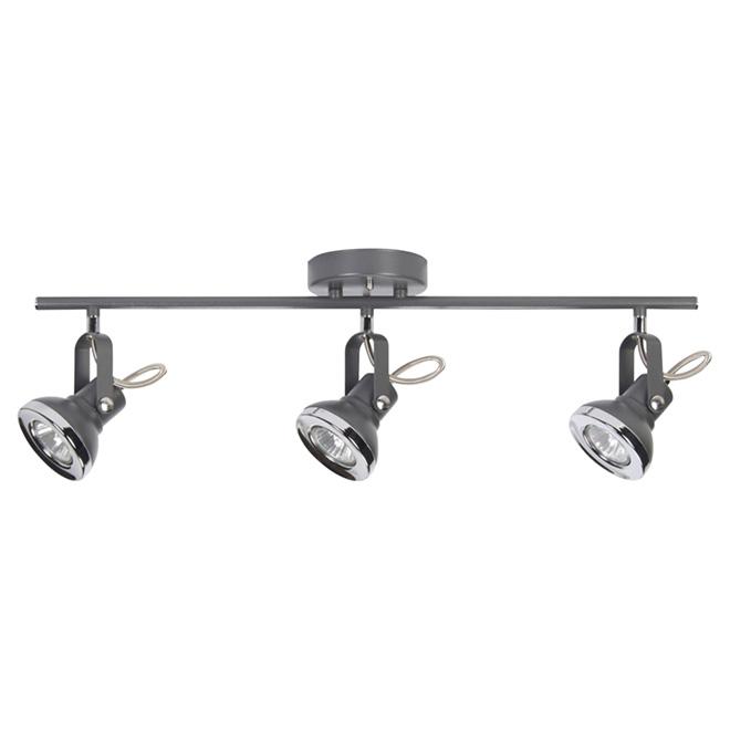 Lawrence grey 3 light ceiling light chrome grey