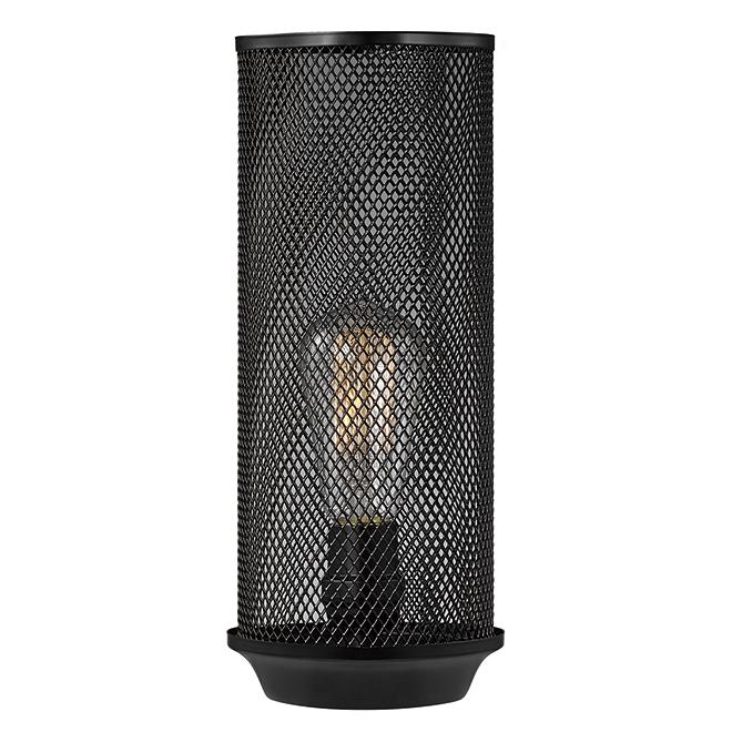 Globe lampe de table abat jour grillag m tal noir - Abat jour pour lampe de sol ...