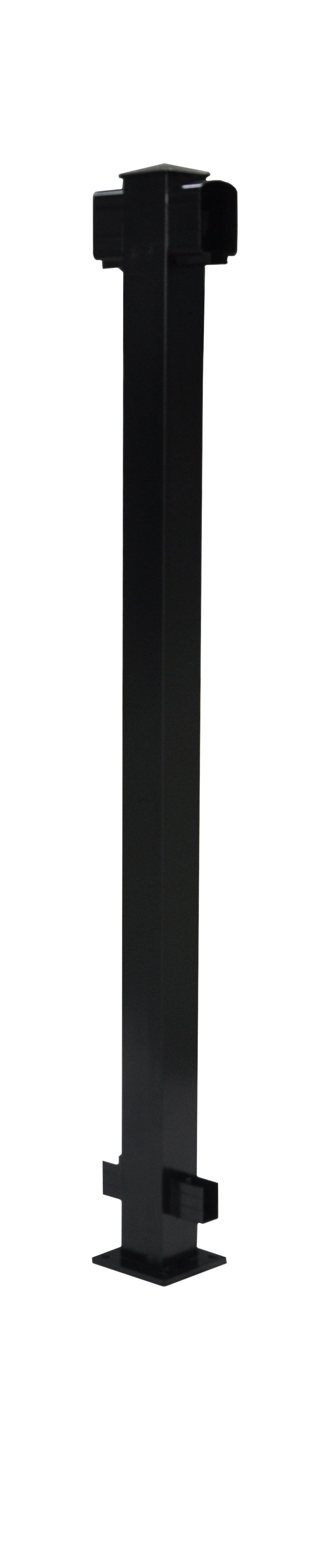 "Aluminum Fence Line Post 42"" - Black"