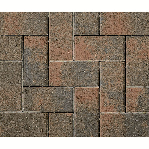 Pavé « Holland », anthracite/marron clair