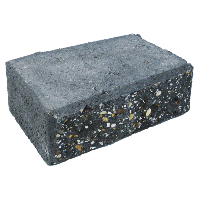 StackStone 90-Degree Wall Corner Block - Charcoal