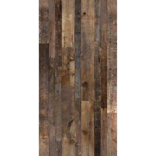 Mur Design Barn Wood Look Wall Panel 48 Quot X 96 Quot Brown